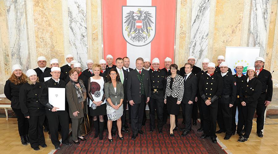 EMAS-Urkundenübergabe an Wiener Rauchfangkehrer